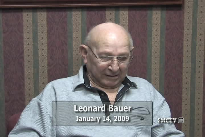 WWII Pacific Veteran Interview Leonard Bauer 1-14-09